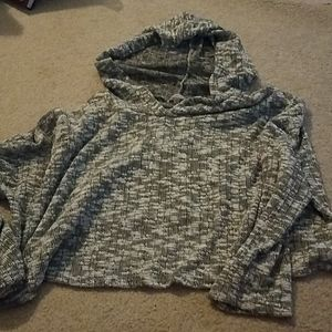 Lightweight cropped hoodie, very soft